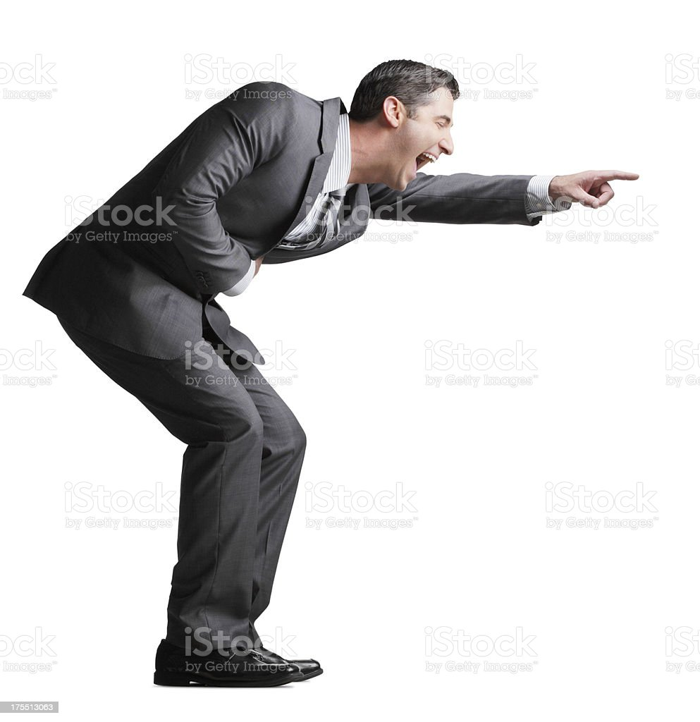Laughing Businessman stock photo