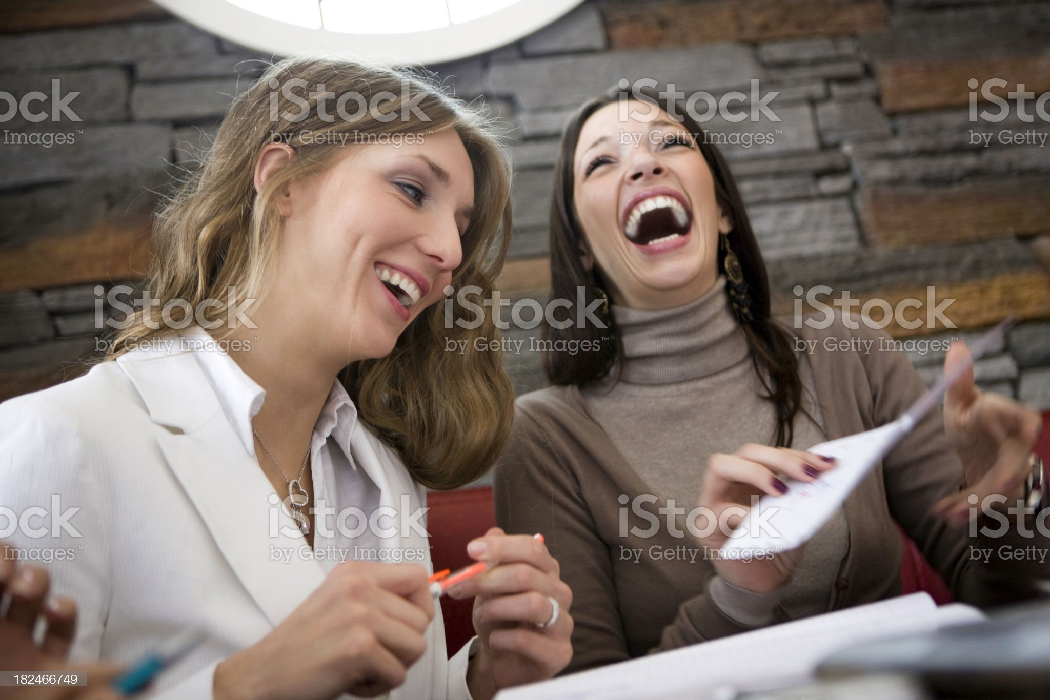 Laughing businesswomen royalty-free stock photo