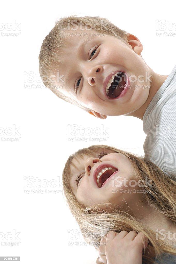 laughing children stock photo