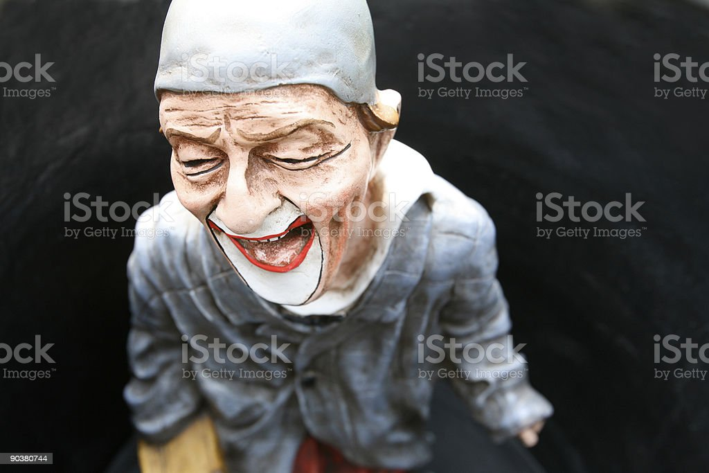 Laughing clown royalty-free stock photo