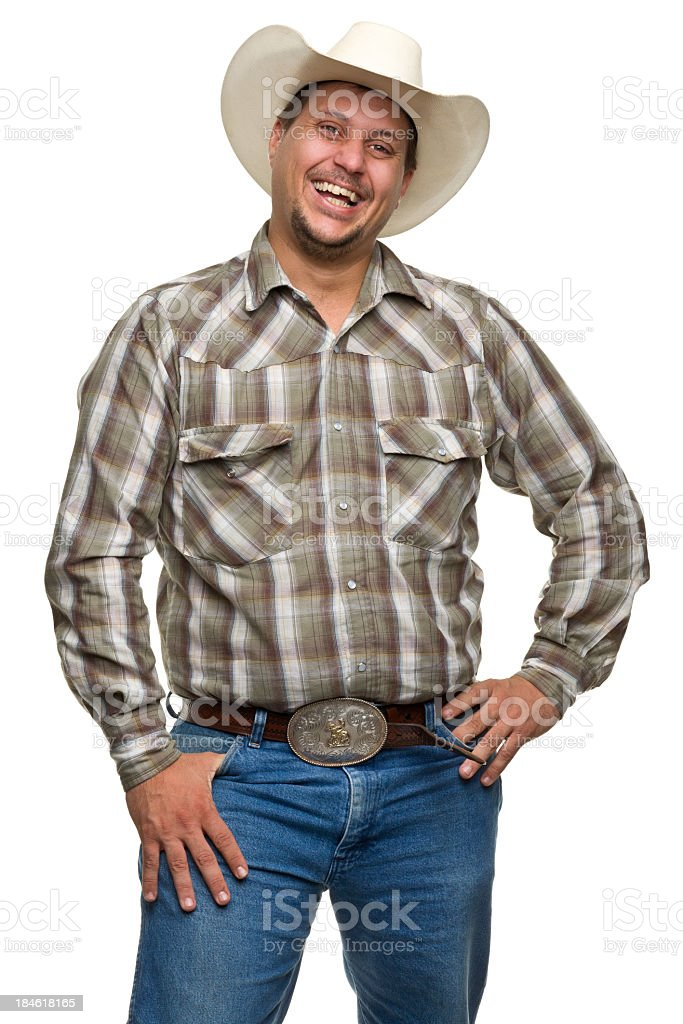 Laughing Cowboy stock photo