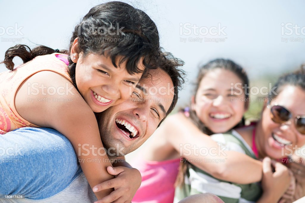 laughing family stock photo