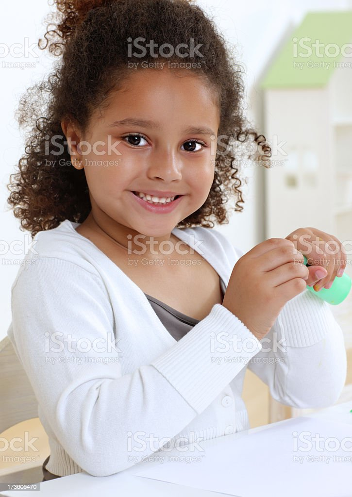 laughing girl in a preschool royalty-free stock photo