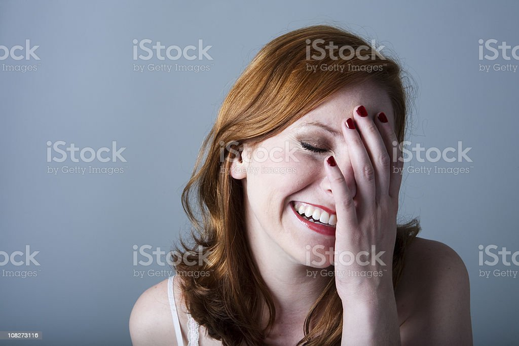 laughing girl stock photo