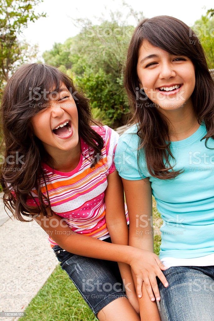 Laughing girls royalty-free stock photo