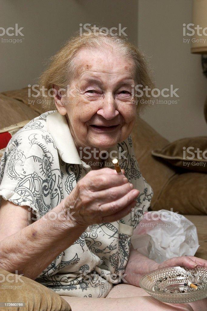 Laughing goofy grandma royalty-free stock photo