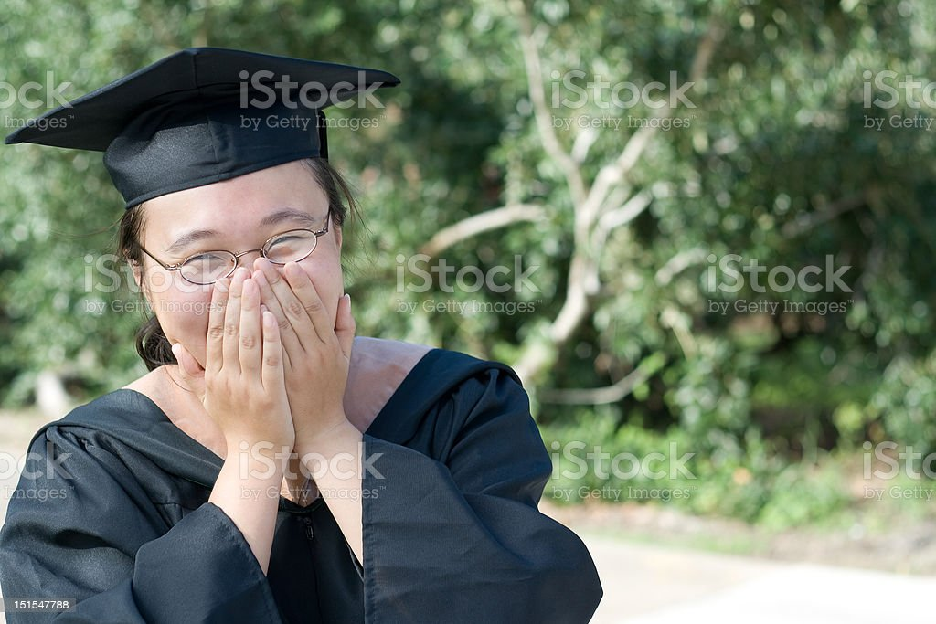 Laughing Graduate royalty-free stock photo
