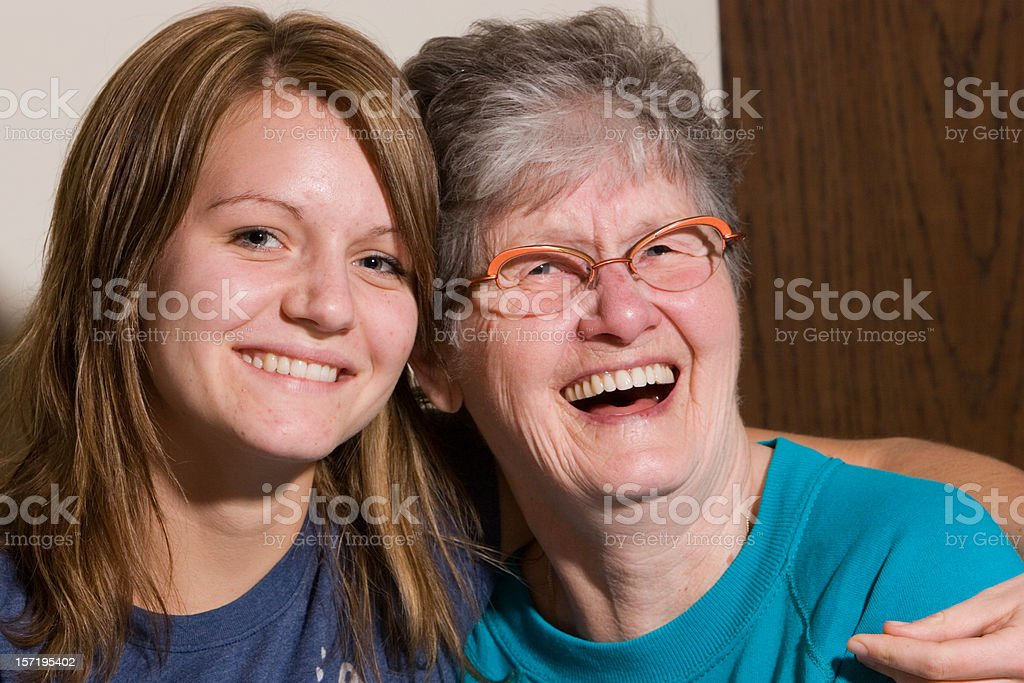 Laughing Grandma royalty-free stock photo