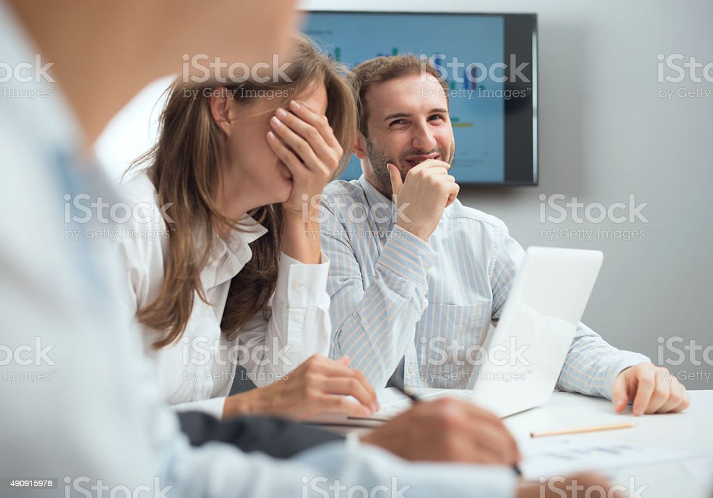 Laughing Group Of Coworkers stock photo