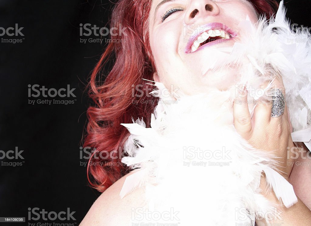 Laughing in glamour royalty-free stock photo