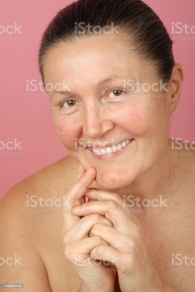 Laughing in the nude royalty-free stock photo