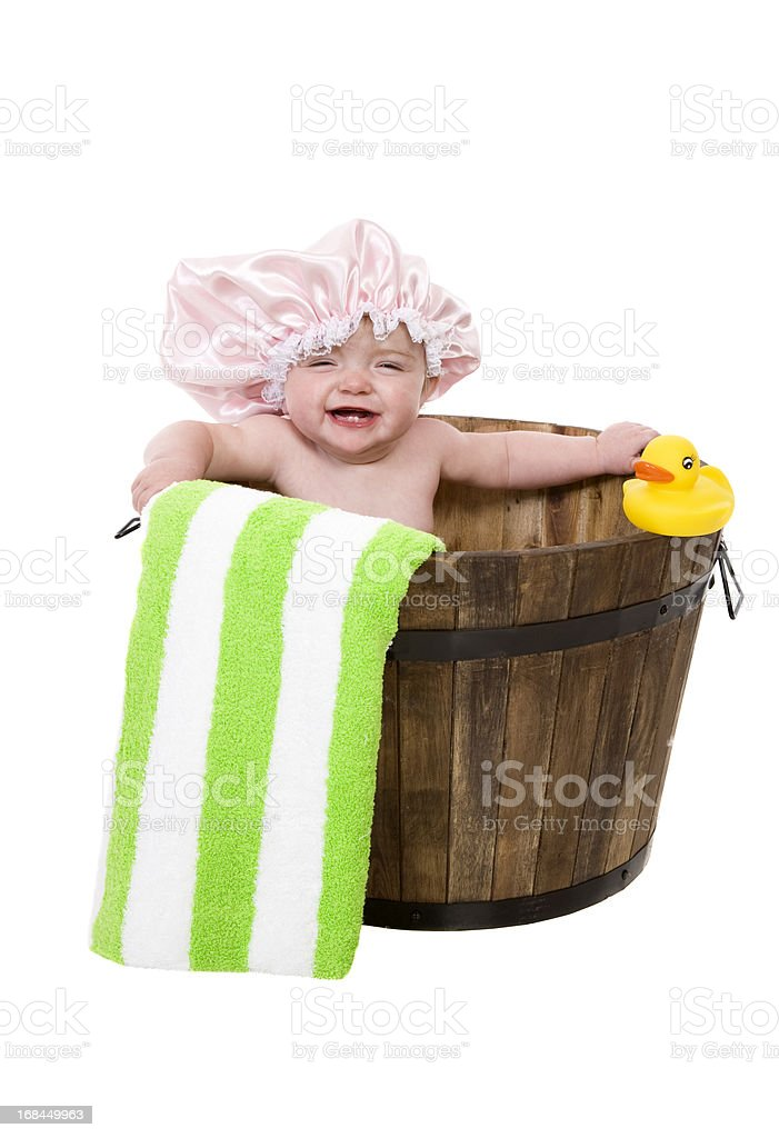 Laughing In The Tub stock photo