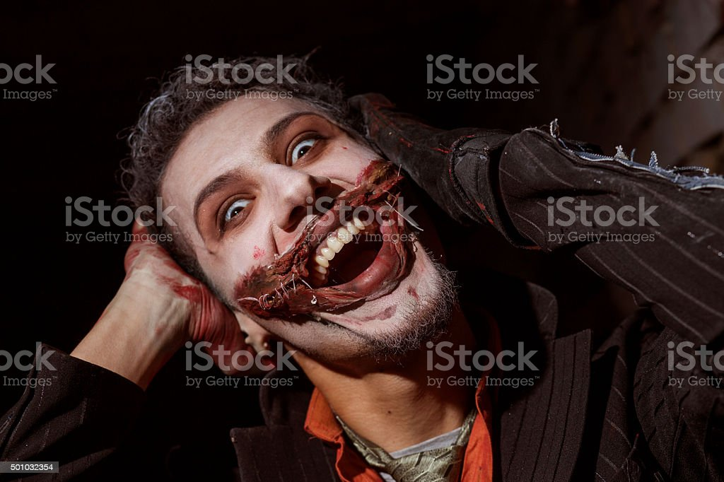 Laughing Joker stock photo