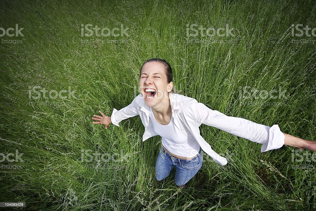 Laughing loud royalty-free stock photo