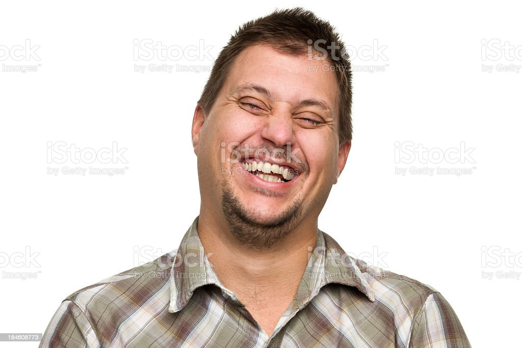 Laughing Man royalty-free stock photo