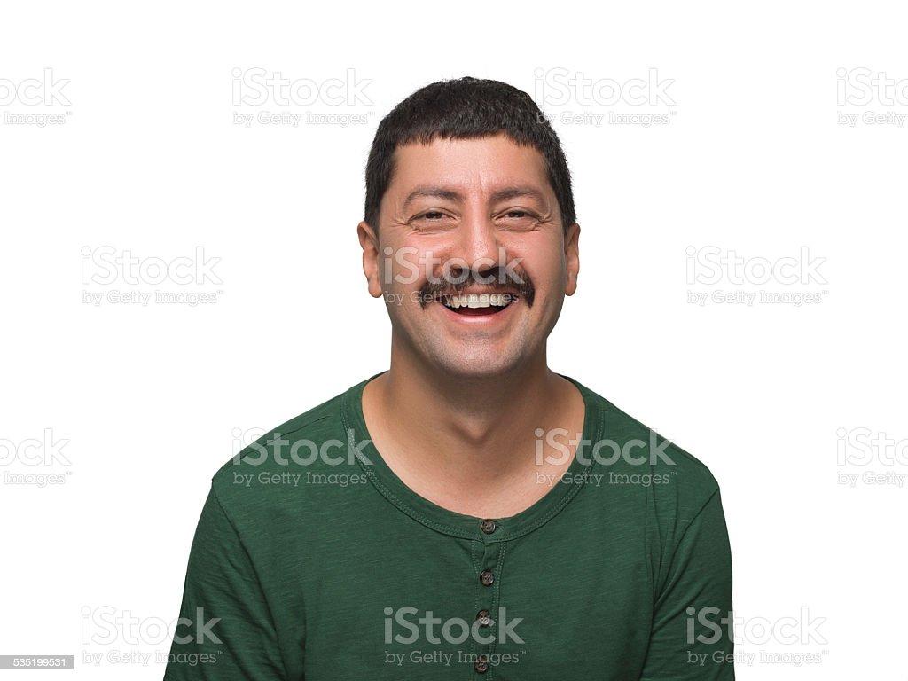 Laughing man stock photo