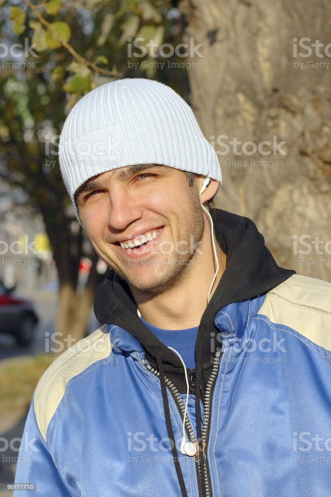 laughing man royalty-free stock photo