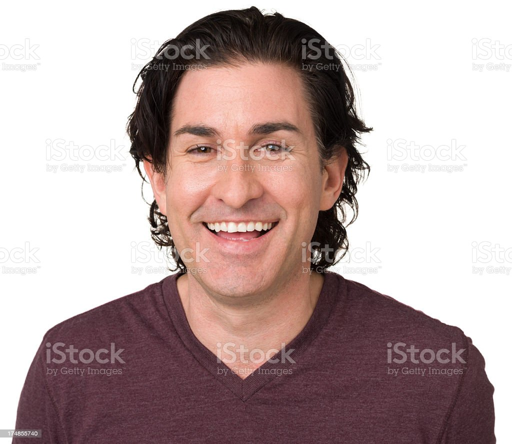 Laughing Man Portrait royalty-free stock photo