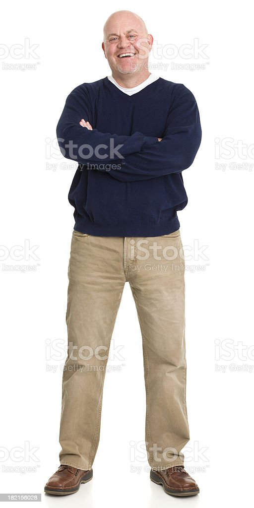 Laughing Man Standing Portrait stock photo