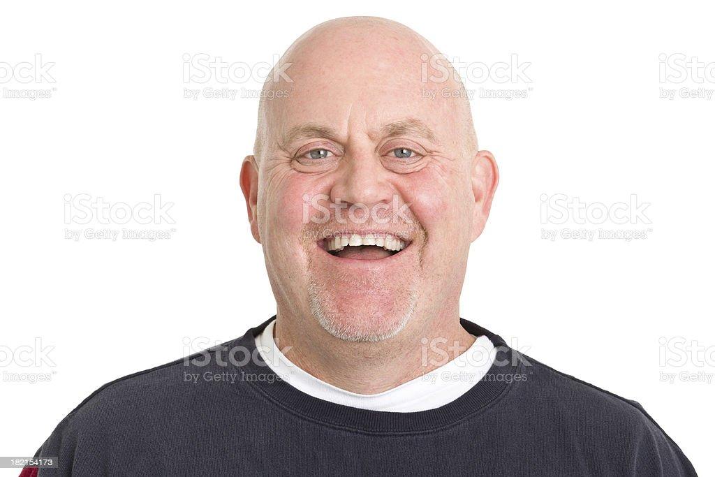 Laughing Mature Man Headshot royalty-free stock photo