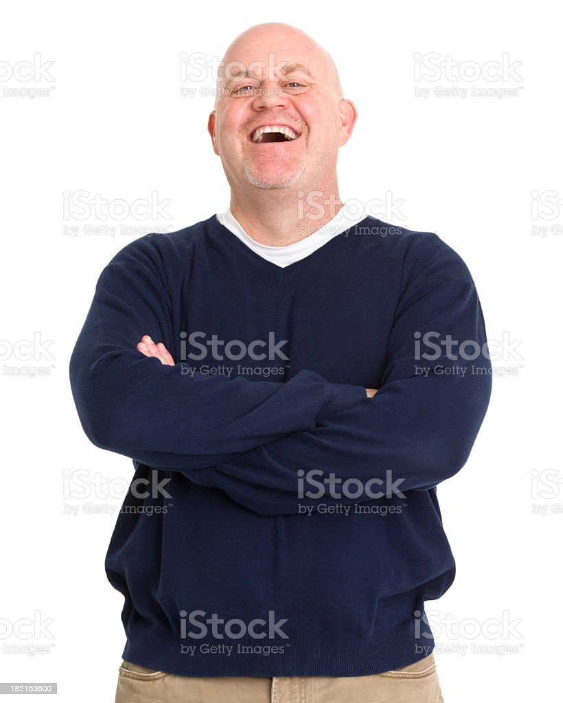 Laughing Mature Man royalty-free stock photo