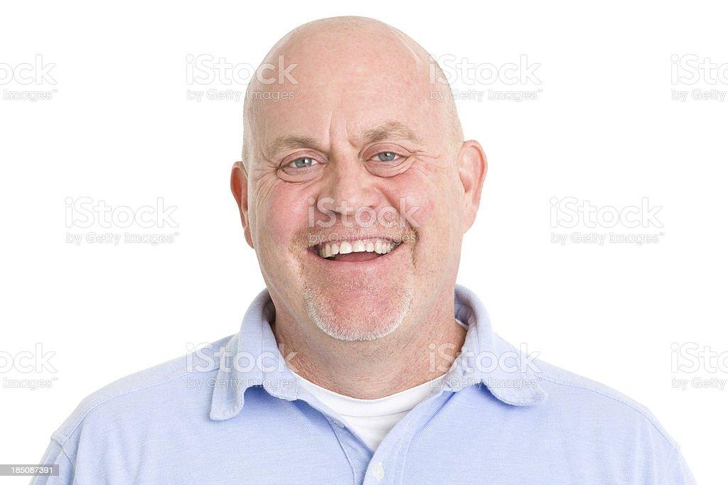 Laughing Mature Man royalty-free stock photo