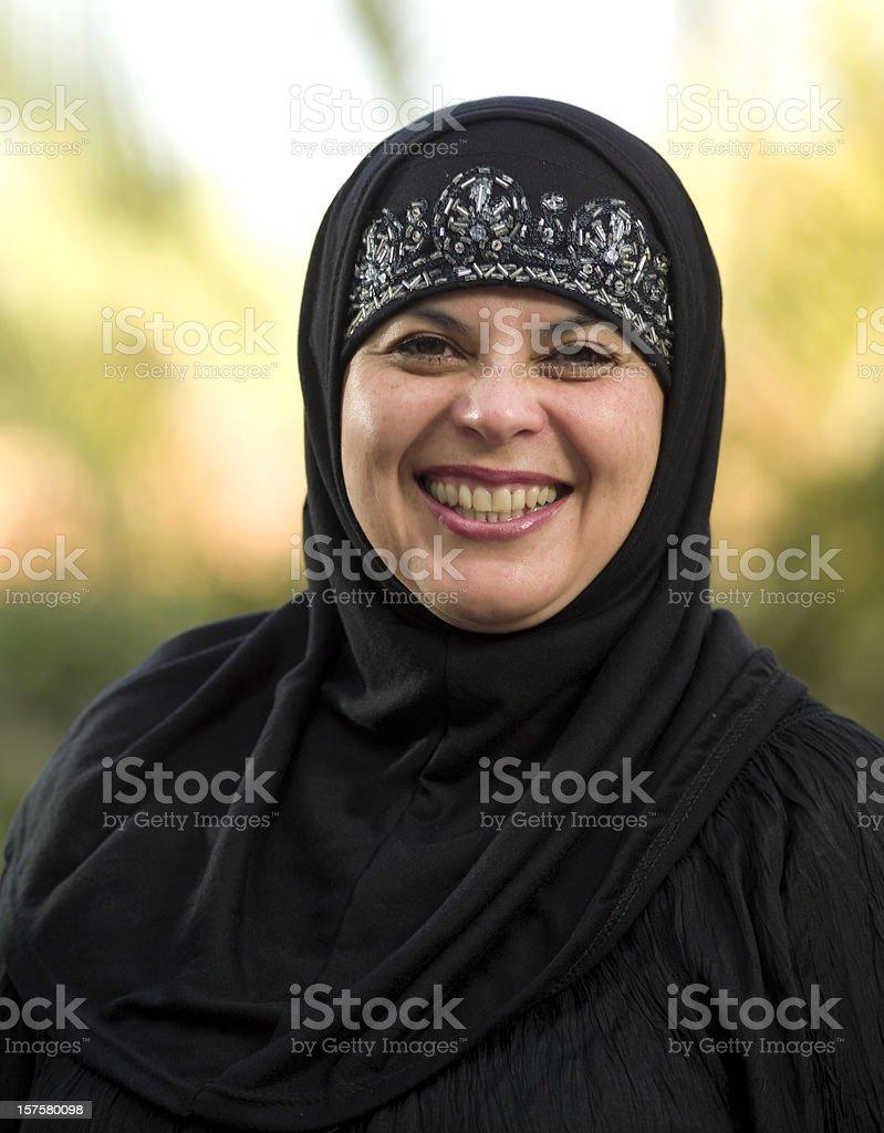 Laughing muslim woman royalty-free stock photo