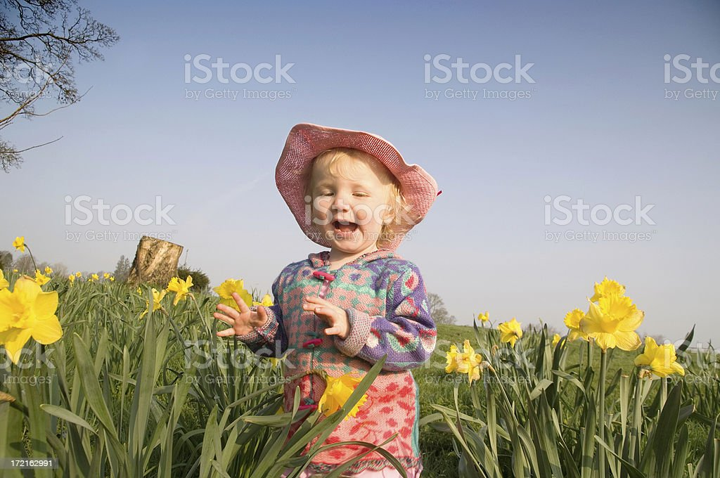 laughing outdoor girl royalty-free stock photo