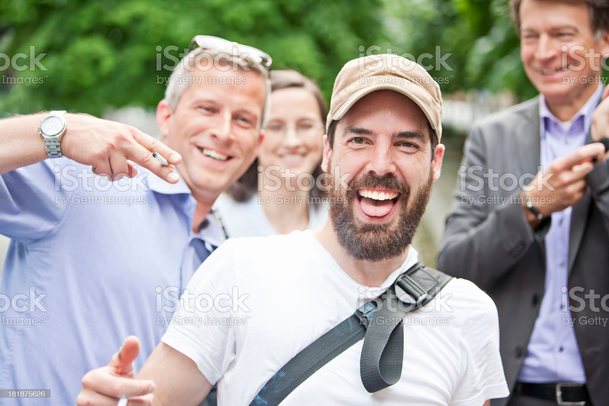Laughing people royalty-free stock photo