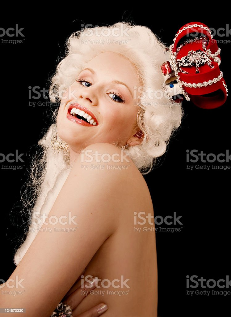 Laughing Queen royalty-free stock photo