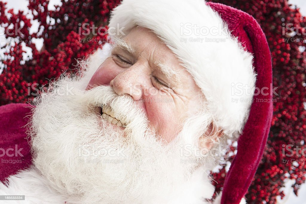 Laughing Santa royalty-free stock photo