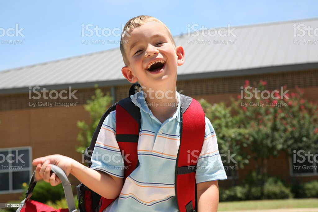 Laughing School Kid royalty-free stock photo