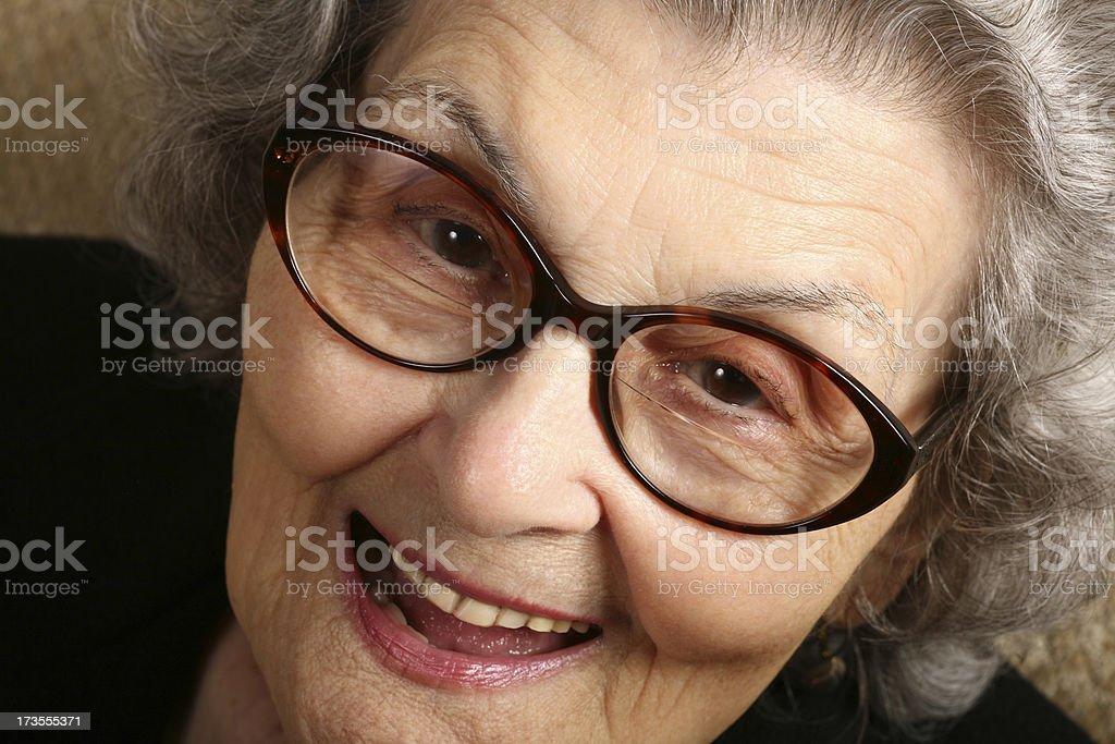 Laughing Smiling Senior Woman Close-up royalty-free stock photo