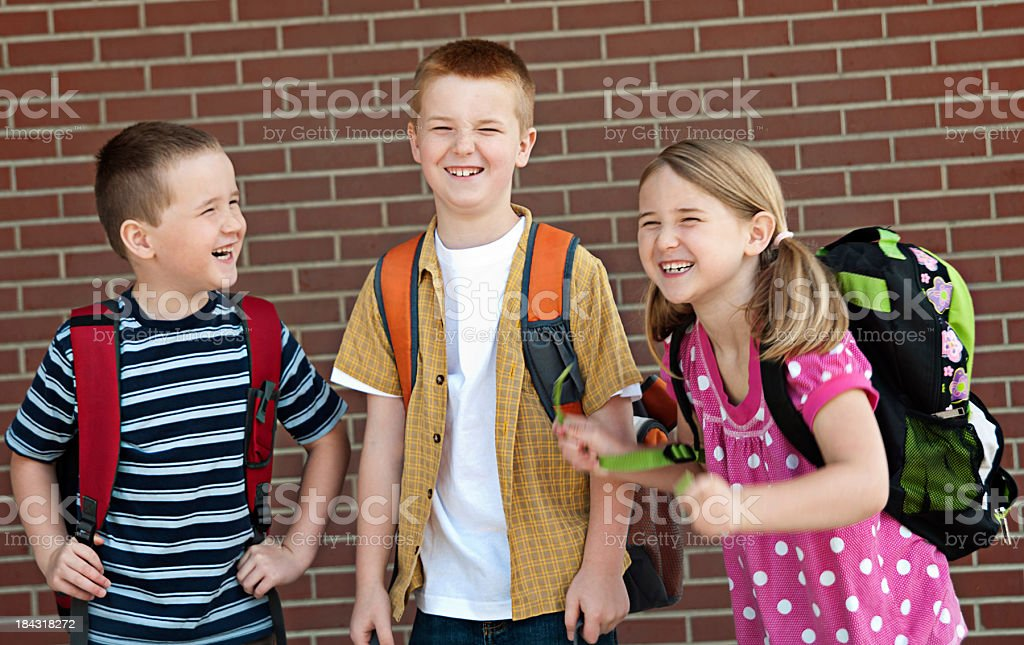 Laughing students royalty-free stock photo