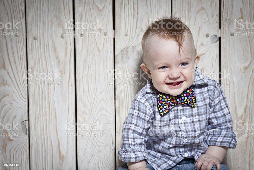 laughing  stylish kid royalty-free stock photo