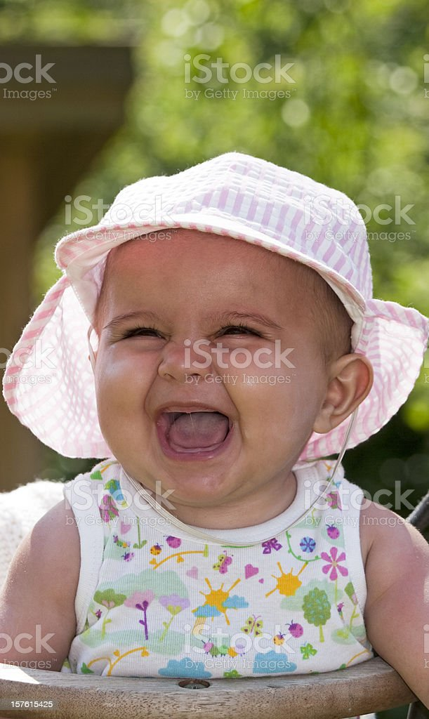 Laughing summer girl royalty-free stock photo