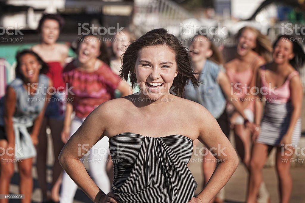 Laughing Teen Girls royalty-free stock photo