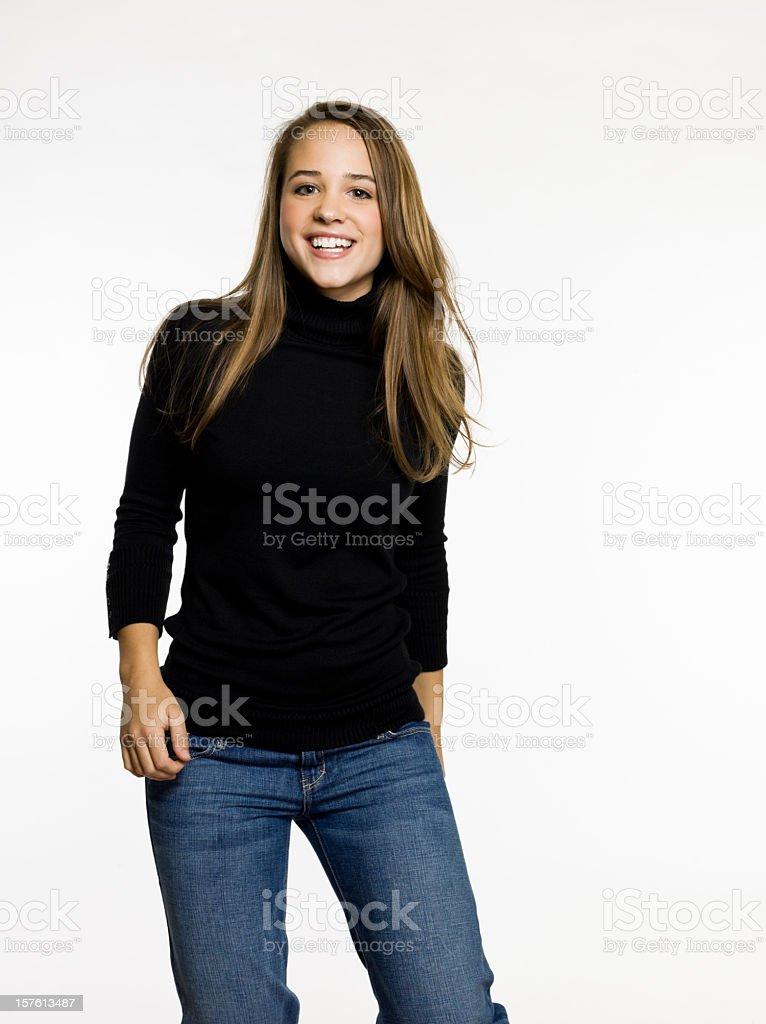 Laughing Teenage Girl royalty-free stock photo