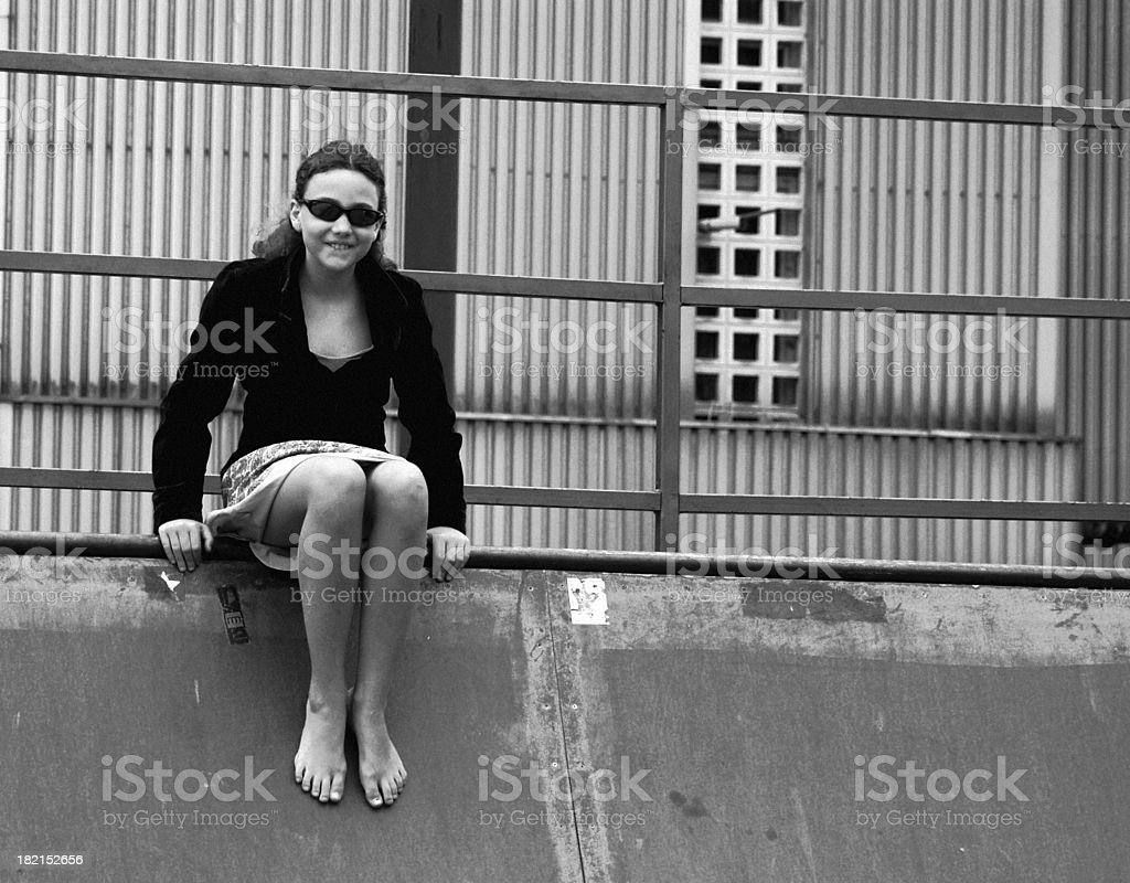 Laughing Urban Girl royalty-free stock photo