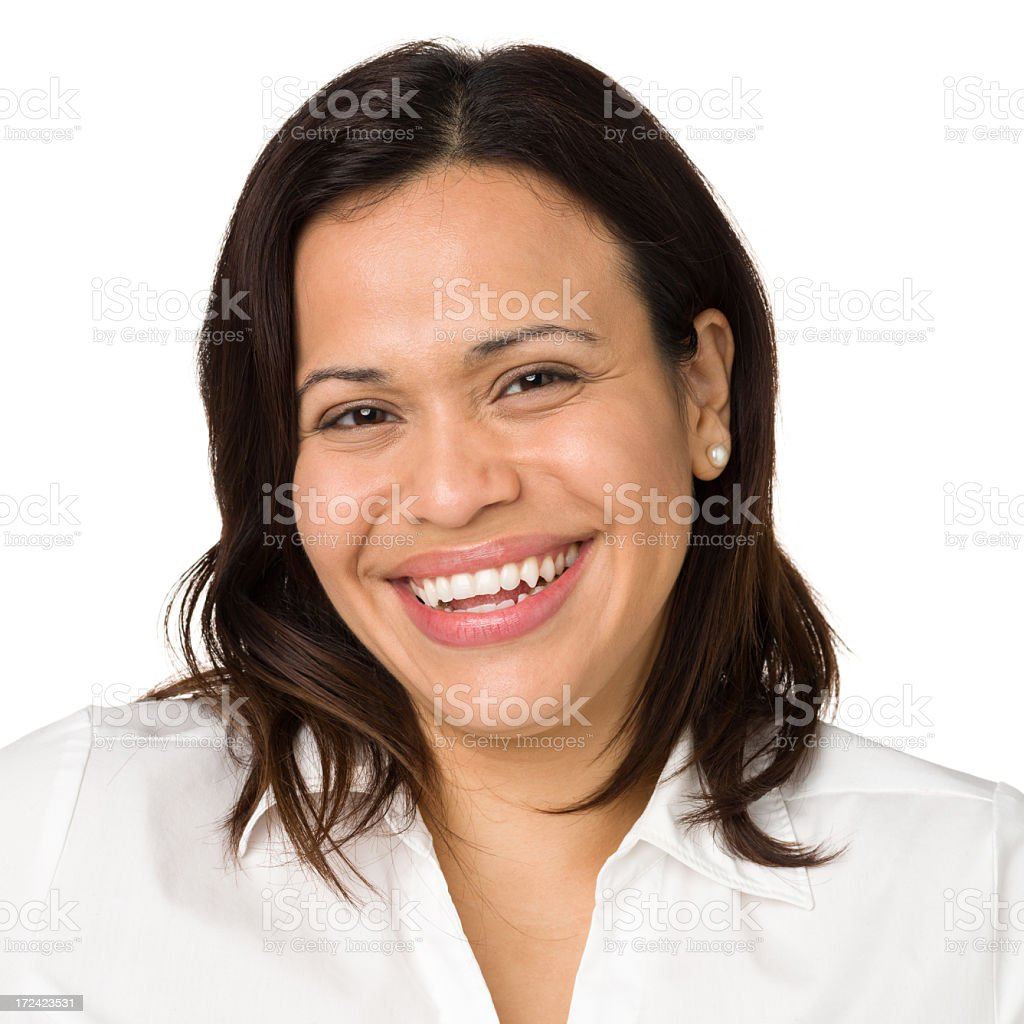 Laughing Woman Headshot Portrait royalty-free stock photo