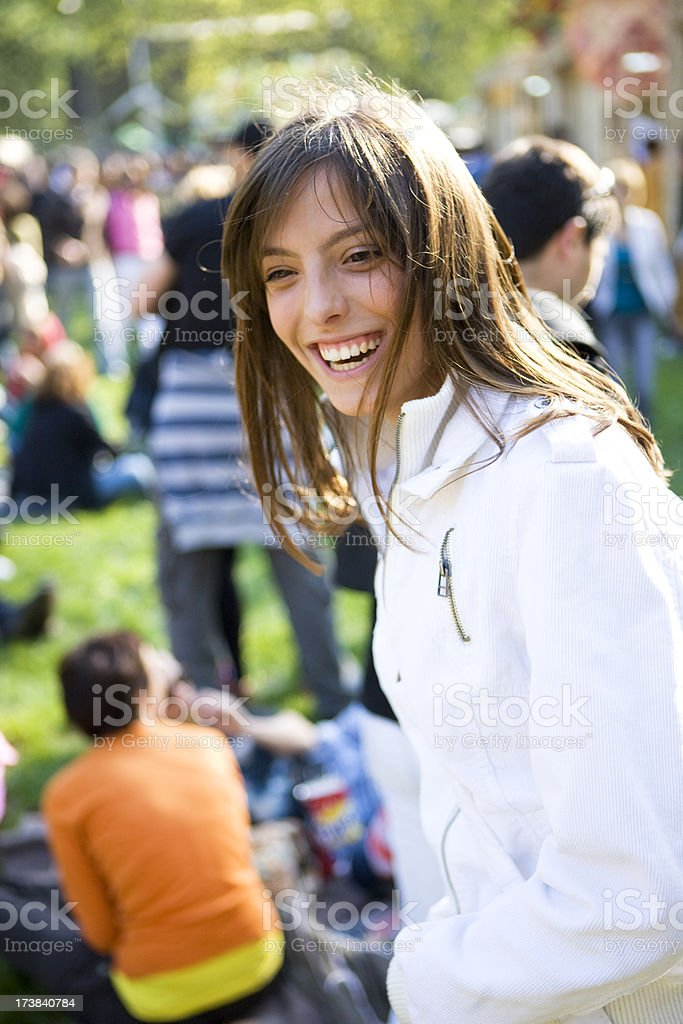 Laughing woman stock photo