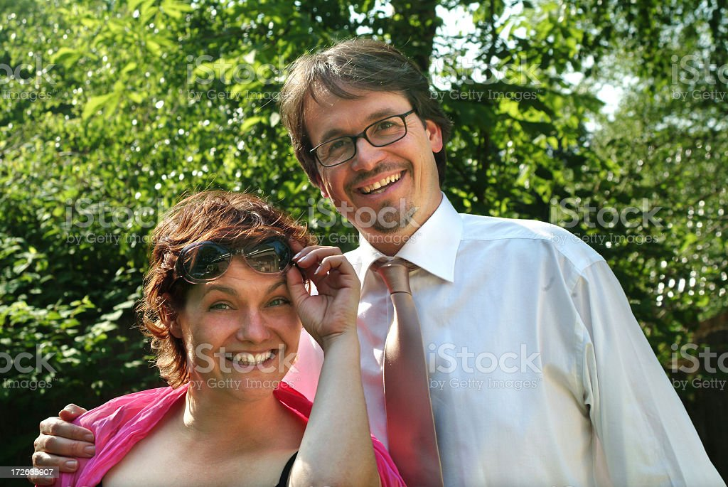 Laughing young couple royalty-free stock photo