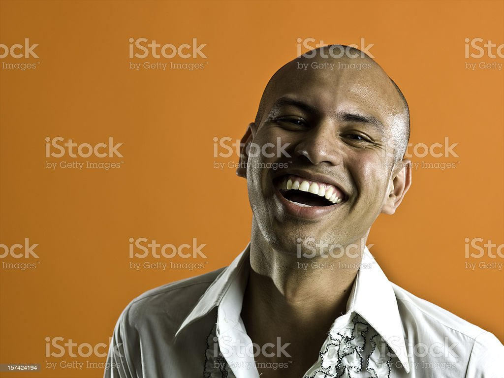Laughing young man royalty-free stock photo