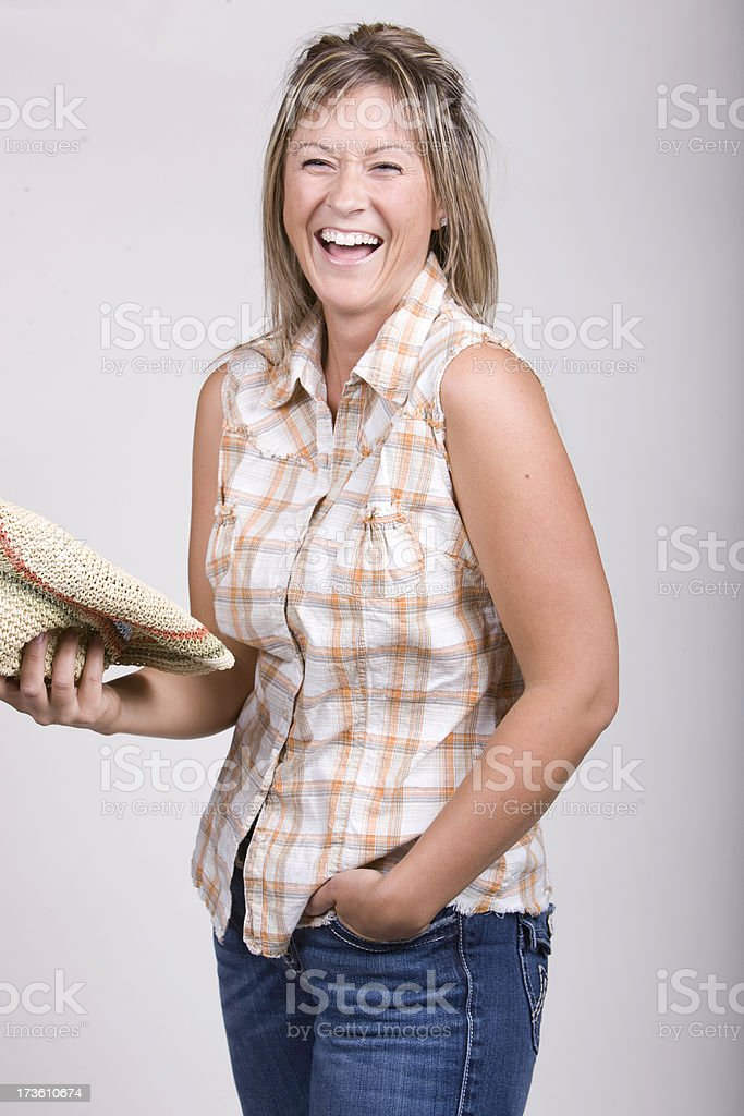 Laughing Young Woman royalty-free stock photo