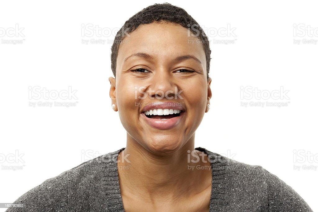 Laughing Young Woman Portrait royalty-free stock photo