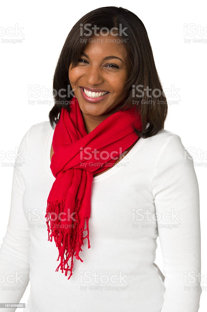 Laughing Young Woman, Waist-Up Portrait royalty-free stock photo