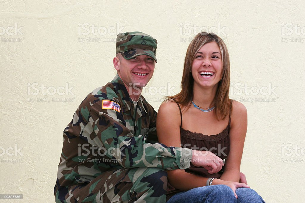 Laughter is good stock photo