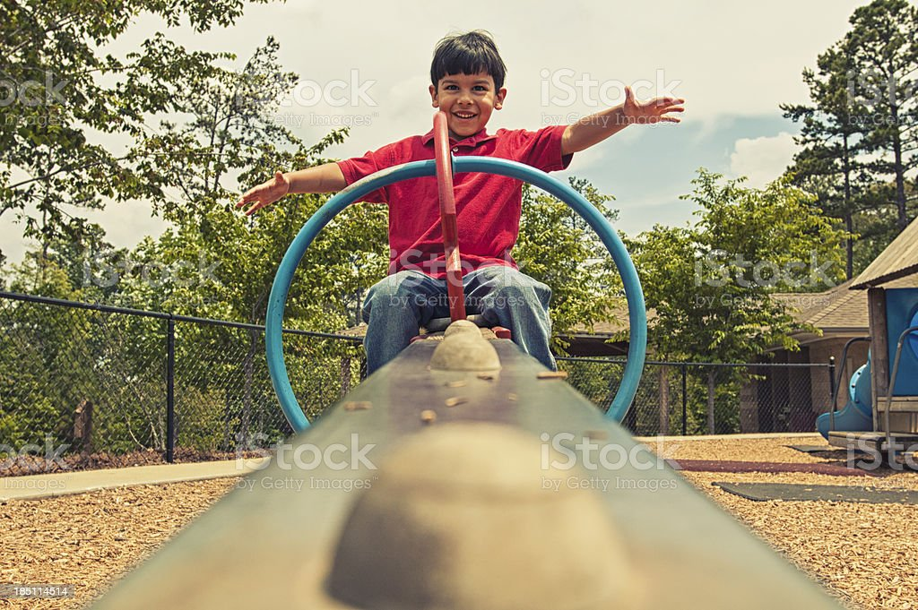 laughter on the seesaw royalty-free stock photo