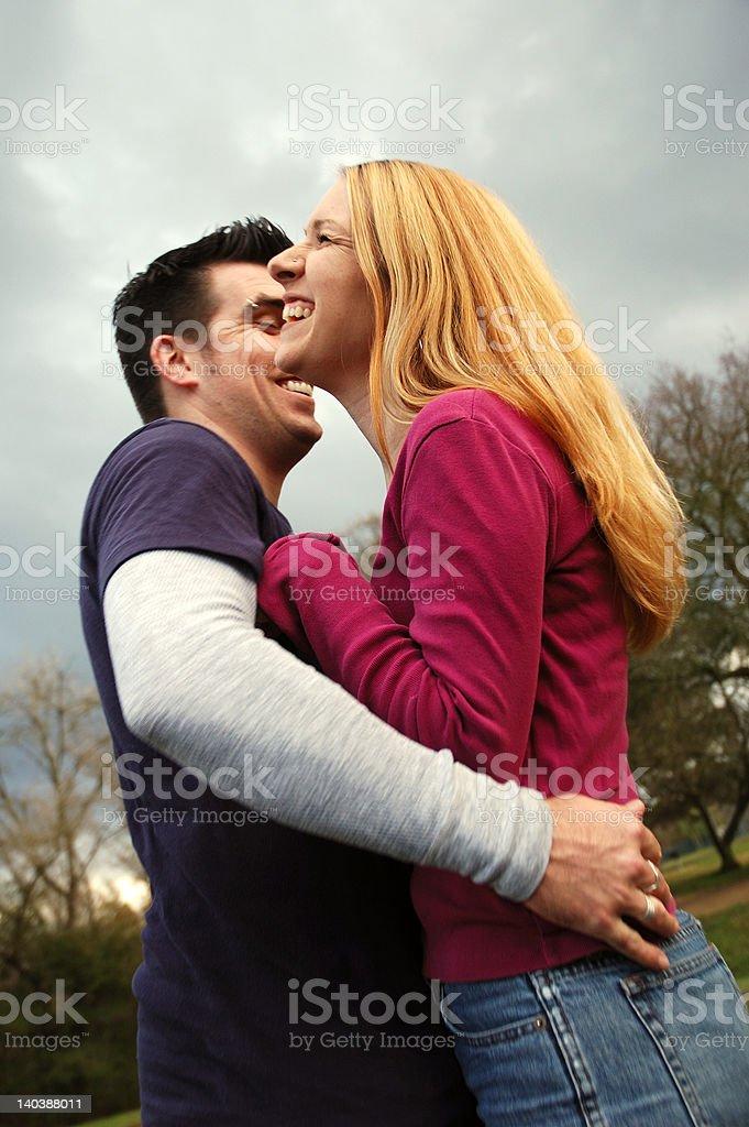 Lauging Couple stock photo