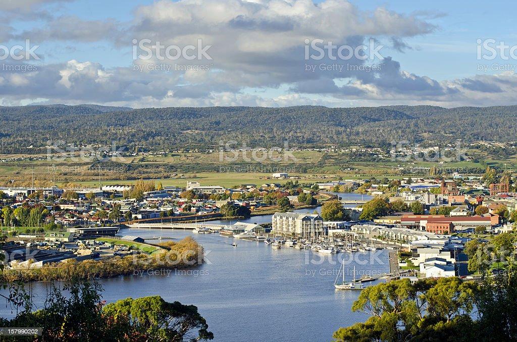 Launceston on the Tamar River stock photo